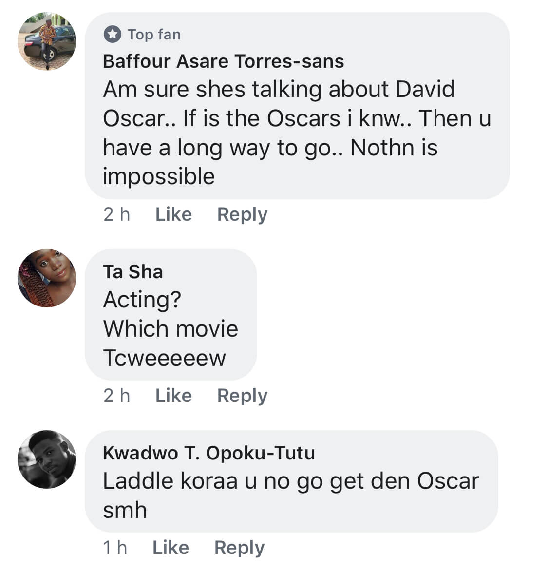 ", ""Laddle koraa u no go get den Oscar""; Ghanaians blast Moesha for saying she'll soon win Oscars, GHSPLASH.COM"