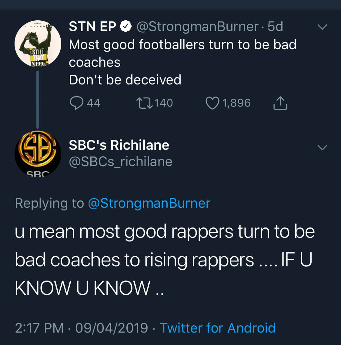 """Most good footballers turn to be bad coaches"" – Strongman shades Sarkodie, ""Most good footballers turn to be bad coaches"" – Strongman shades Sarkodie, GHSPLASH.COM"