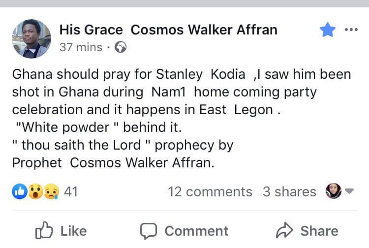 KOD will be shot de@d at NAM 1â??s homecoming party in Ghana - Prophet Walker Affran reveals, KOD will be shot de@d at NAM 1â??s homecoming party in Ghana â?? Prophet Walker Affran reveals, GHSPLASH.COM