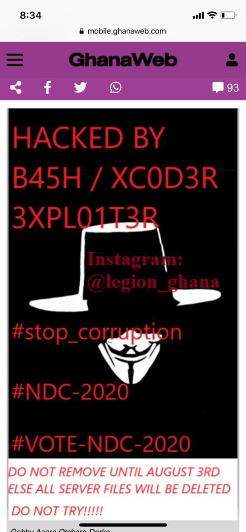 Breaking: Ghanaweb.com hacked (+Screenshots), Breaking: Ghanaweb.com hacked (+Screenshots), GHSPLASH.COM
