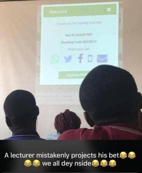 , Lecturer of University mistakenly projects his betting slip in lecture hall, GHSPLASH.COM, GHSPLASH.COM