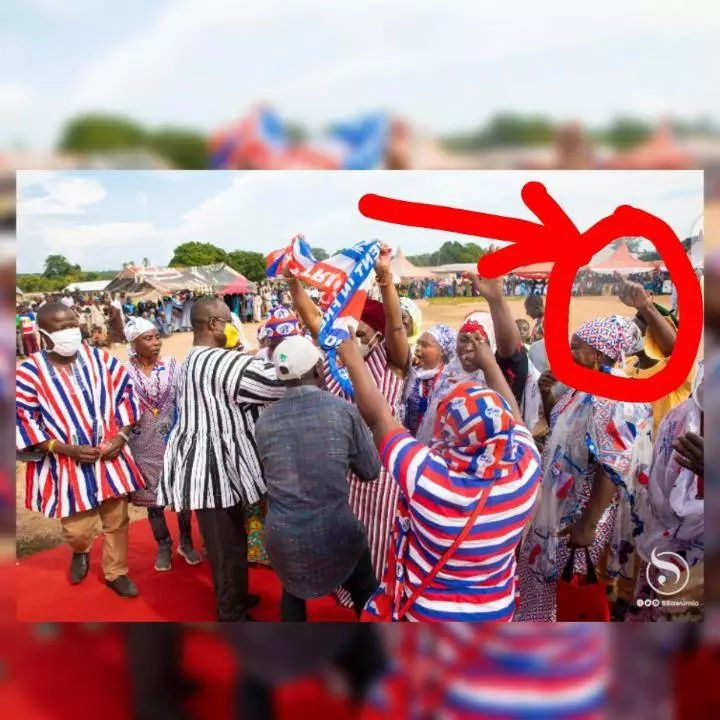 Who else noticed this gesture? When Samira Bawumia was welcomed in Bole (photos) 1